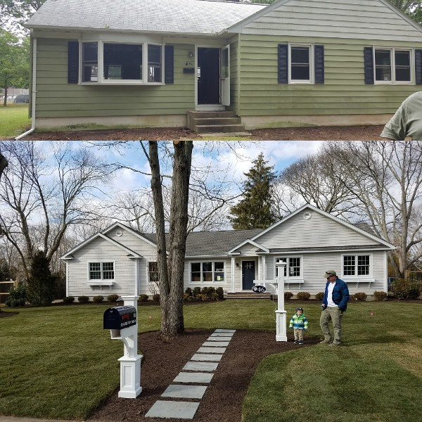 Before and After of House Exterior